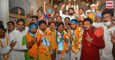 संपूर्णानंद संस्कृत विश्वविद्यालय के छात्रसंघ चुनाव में एनएसयूआई ने सभी पदों पर जीत हासिल की