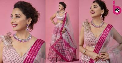 माधुरी दीक्षित ने गुलाबी लंहगा पहन शेयर की खूबसूरत फोटो,अब फैंस के दिलों की धड़कन हुई तेज