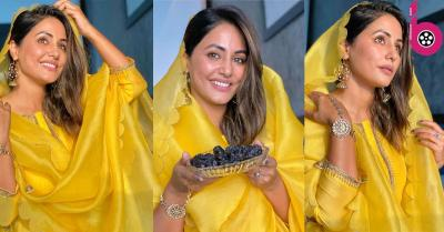 बोल्ड लुक में तहलका मचाने के बाद सिम्पल अवतार में नजर आई हिना खान ने इस अंदाज में फैंस को कहा 'रमजान मुबारक'