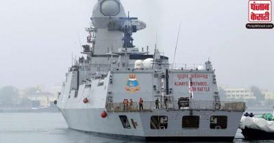भारतीय नौसेना ने विदेशों से चिकित्सा ऑक्सीजन लाने के लिए तैनात किए युद्धक पोत