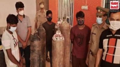 नहीं थम रही ऑक्सीजन की कालाबाजारी, लखनऊ में पुलिस ने 10 लोगों को किया गिरफ्तार