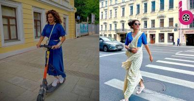 रूस की सड़कों पर दिखा तापसी पन्नू का 'स्वैग',  साड़ी पर शूज पहनकर मस्ती में घूम रही एक्ट्रेस की तस्वीरें हुई वायरल
