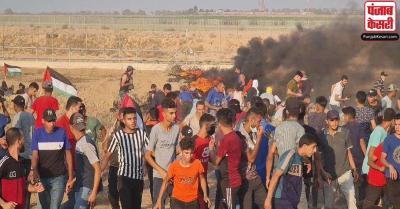 सीमा पर हमास के हिंसक प्रदर्शन के बाद इजरायल का पलटवार, गाजा पट्टी पर लड़ाकू विमानों ने किया हवाई हमला