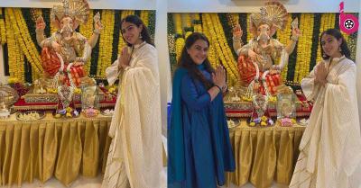सारा अली खान ने भी किया गणपति बप्पा का जोरदार स्वागत, मां के साथ विघ्नहर्ता की भक्ति में हुईं मगन