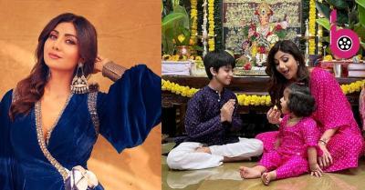 शिल्पा शेट्टी के नक्शे कदम पर चली बेटी समिषा, भाई विआन के साथ करती दिखी योगा