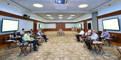 Representative image of the prime minister chairing a meeting. Photo: Twitter/@narendramodi