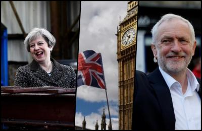 British Prime Minister Theresa May (left) and her Labour challenger, Jeremy Corbyn (right). Credit: Reuters