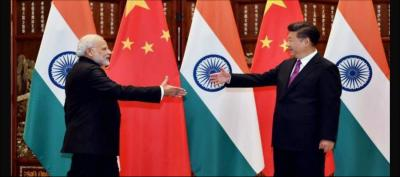 Prime Minister Narendra Modi with Chinese President, Xi Jinping before a bilateral meeting in Hangzhou, China. Photo: PTI