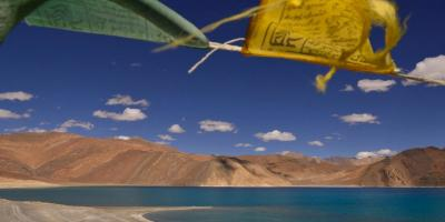 File photo of Pangong Tso lake, where Indian and Chinese forces come face to face in Ladakh. Photo: Shome Basu/The Wire