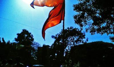 A saffron flag. Photo: Flickr/don'tpanic CC BY NC ND 2.0