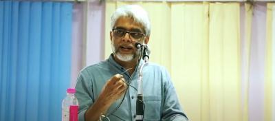 Jawaharlal Nehru University professor Udaya Kumar. Photo: YouTube video screengrab