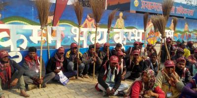 Dalit Safai Mazdoor Sangathan protests. Photo: Special arrangement