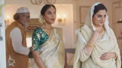 A screengrab from the Tanishq ad.