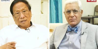NSCN (I-M) chief Thuingaleng Muivah and Karan Thapar. Photo: The Wire