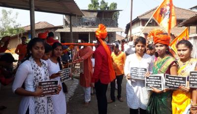 Young OBC students participating in street plays. Photo: Sukanya Shantha