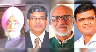 Bhupinder Singh Mann, Pramod Kumar Joshi, Ashok Gulati and Anil Ghanwat. Photos: Twitter
