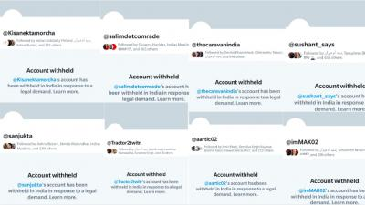 Screenshots of the accounts that have been abruptly withheld by Twitter. Photos: Twitter/@zoo_bear