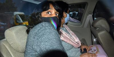 22-year-old activist Disha Ravi leaves after being produced at Patiala Court in New Delhi, February 22, 2021. Photo: PTI