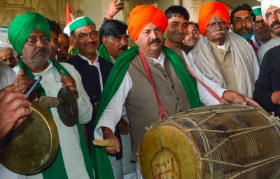 Bharatiya Kisan Union President Naresh Tikait on February 23. Photo: PTI