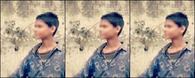 A screenshot from the viral video where Shringi Yadav can be seen assaulting a minor Muslim boy. Photo: Twitter video screengrab