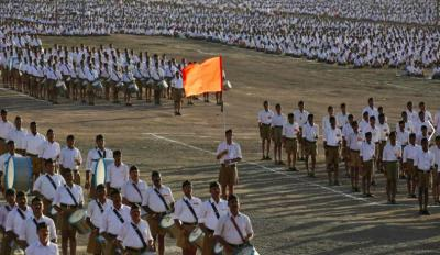 Representative image of an RSS conclave in Pune. Photo: Reuters