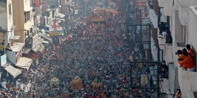 Huge crowds gathered at Haridwar for the Kumbh Mela. Photo: Reuters