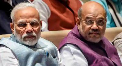 Narendra Modi and Amit Shah. Photo: PTI
