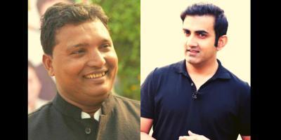 Youth Congress leader B.V. Srinivas (L) and BJP MP Gautam Gambhir (R). Photo: IYC Website/ Twitter.