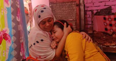 Qureshi's wife and daughter. Photo: Ismat Ara
