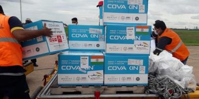 A photograph tweeted by S. Jaishankar, showing Covaxin being sent to Paraguay. Photo: Twitter/@DrSJaishankar