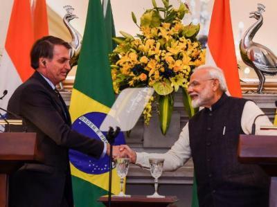 Jair Bolsonaro and Narendra Modi. Photo: PTI/Files