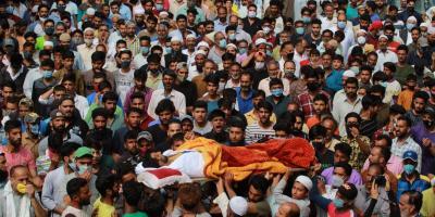 Bashir Ahmad Pahloo's funeral. Photo: Peerzada Waseem
