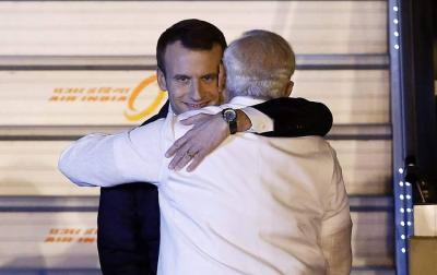 Emmanuel Macron and Narendra Modi. Photo: Reuters/File