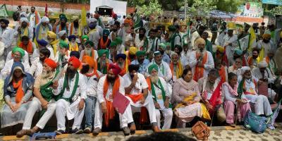 Day 1 of the Kisan Sansad at Jantar Mantar, New Delhi, on July 23, 2021. Photo: Indra Shekhar Singh