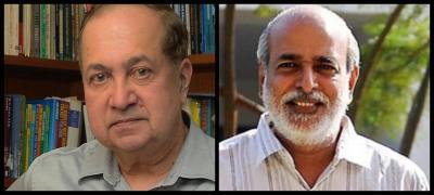 N. Ram (L) and Shashi Kumar.