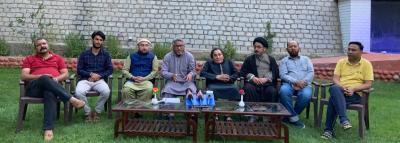 Leaders of the Kargil Democratic Alliance and Ladakh Apex Body. Photo: Twitter/@Sajjad_Kargili