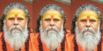 Mahant Narendra Giri, president of Akhil Bharatiya Akhada Parishad. Photo: Twitter.