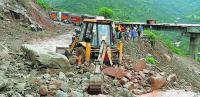 Massive landslides block J&K highway for 12 hrs