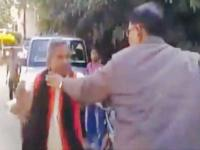 Video shows BJP leader assaulting DTO for removing car nameplate