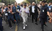 Governor flags off Run for Unity at Sukhna Lake