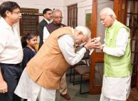 PM greets Advani on birthday, says his contribution towards nation building monumental