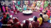 Married women perform rituals on the occasion of Karva Chauth in Chandigarh