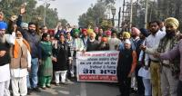 AAP protests 'anti-people' policies of govt