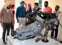 BMW gives car parts for study purposes to GKU students