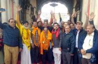 Over 130 pilgrims leave for Katas Raj Dham in Pakistan