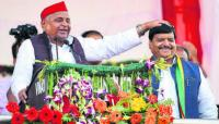 At Shivpal rally, 'confused' MSY seeks votes for SP
