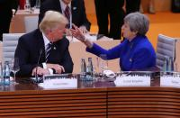 As Brexit muddles along, Trump roots for a full break