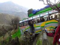 Bus hangs mid-air, miraculous escape for 24 in doda