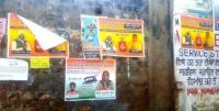 Villages dotted with posters