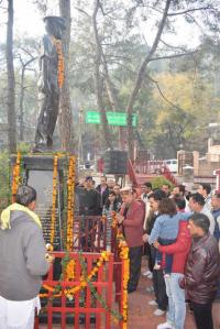 Floral tributes paid to Capt Mirdul Sharma
